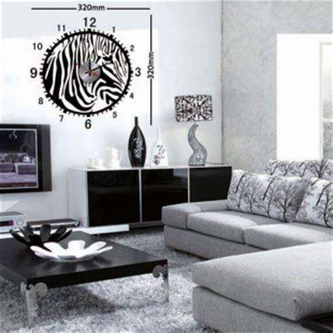 chambre zebre et stickers muraux horloge adhésive pour décorer votre salon