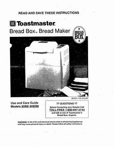Toastmaster 1155 Use And Care Guide