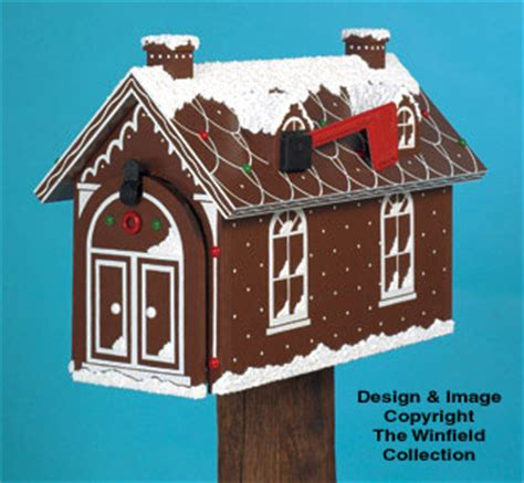 yard garden projects gingerbread house mailbox