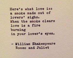 Romeo and Juliet Quote by William Shakespeare Typewritten ...
