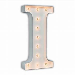 white 24 inch letter i marquee light by vintage marquee lights With 24 inch lighted letters