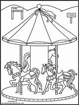 Carnival Coloring Pages Fair Carousel Printable Rides Fun Drawing Animals Carnivals Kid Colouring Sheets Boys Pouť Sheet Night Adult Pout sketch template