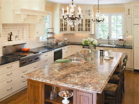 tumbled marble backsplash choosing kitchen countertops hgtv
