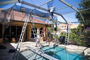 pool cage rescreening cost american hwy