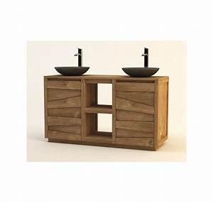 Meuble Salle De Bain Promo Destockage : meuble de salle de bain teck massif groovy mobilier de salle de bain lecomptoirdesauthentics ~ Teatrodelosmanantiales.com Idées de Décoration