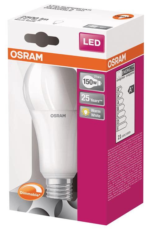 Led Len Osram by Osr 899959200 Osram Led Superstar Cl A 150 21 W E27 At
