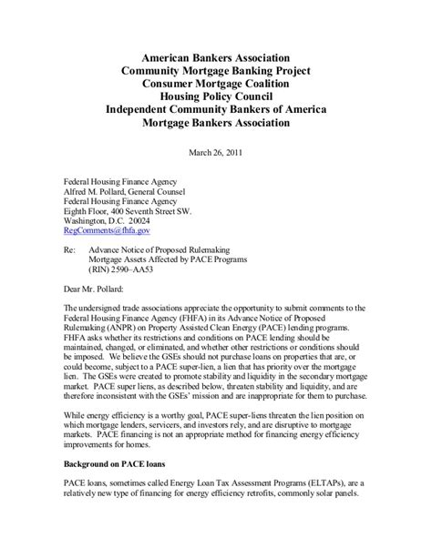 Nar mba fhfa comment letter