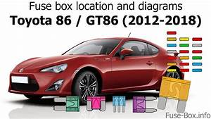 Fuse Box Location And Diagrams  Toyota 86    Gt86  2012