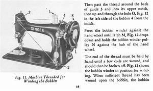 Singer 99 K Sewing Machine Threading Diagram