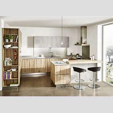 Kleine Küche In Der Kombi Beton Und Holz