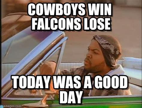 Cowboys Lose Meme - cowboys win falcons lose ice cube meme on memegen