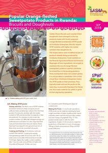 popular orange fleshed sweetpotato products  rwanda