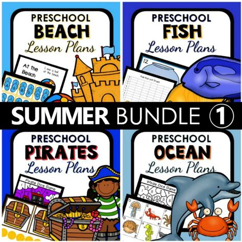 summer theme lesson plan bundle 1 preschool 101 304 | Summer Preschool Lesson Plans Bundle 1