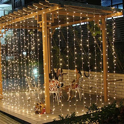 3m x 3m 300 led string curtains light window icicle