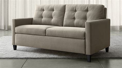 sofas that become beds karnes grey queen sleeper sofa crate and barrel