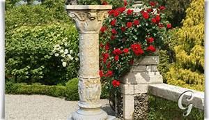 Skulpturen Für Garten : deko stein s ule f r den garten constanzia ~ Watch28wear.com Haus und Dekorationen