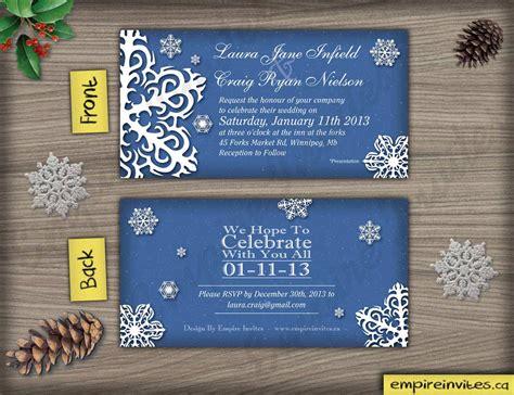 custom snowflake wedding invitations canada empire invites winnipeg