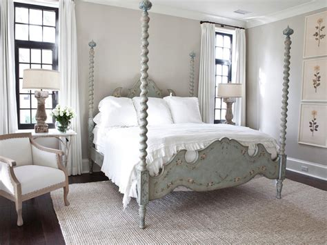 Sophisticated French Country Bedroom With Four Poster Bed