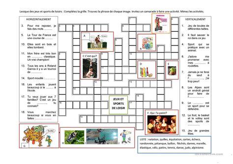 lexique des jeux et sports de loisirs fiche d exercices fiches p 233 dagogiques gratuites fle