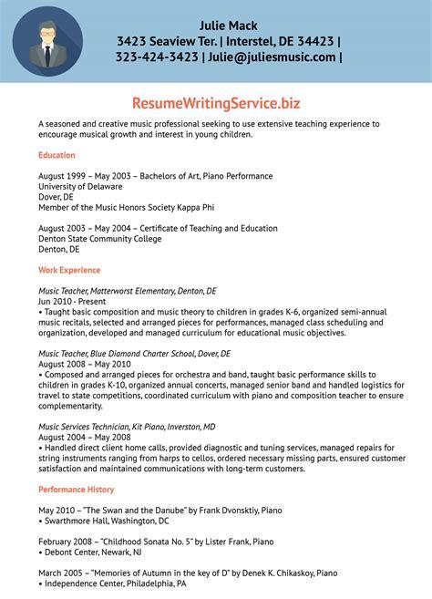 Educator Resume Writing Service by Resume Sle Resume Writing Service