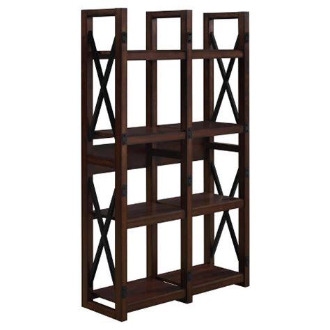 Wood Room Divider Bookcase by Hathaway Wood Veneer Bookcase Room Divider Espresso