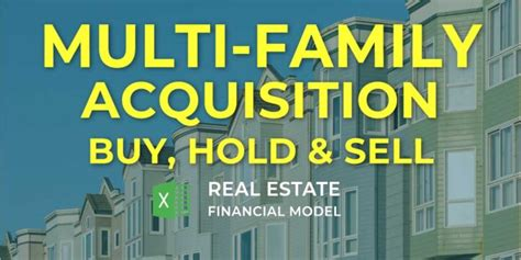 multi family property acquisition financial model excel