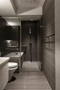 emejing idee deco salle de bain design pictures design With salle de bain contemporaine grise
