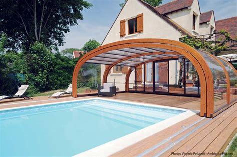 abri piscine bois haut abrisud fabricant abri de piscine bois