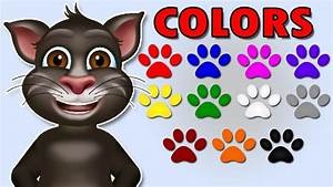 Colors For Children To Learn With Tom Cat