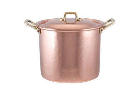 copper pan  lid tin lined handcrafted cm diameter