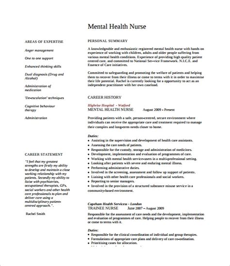 Nursing Cv by 8 Nursing Cv Sles Sle Templates