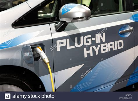 In Hybrid Electric Vehicles by A In Hybrid Electric Vehicle Phev Stock Photo