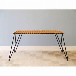 Table Basse Rotin : table basse vintage rotin metal la maison retro ~ Teatrodelosmanantiales.com Idées de Décoration