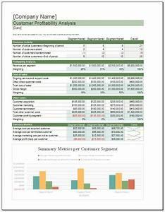 Customer Profitability Analysis Template  U2013 Clickstarters