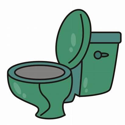 Toilet Clip Clipart Potty Bathroom Funny Cartoon