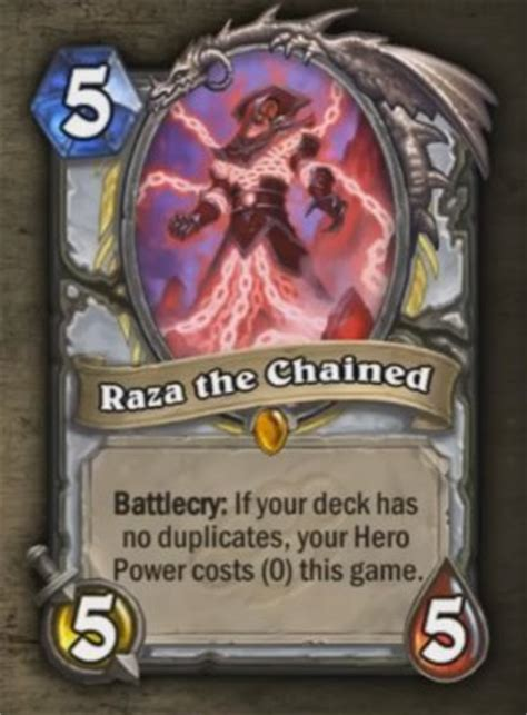 hearthstone news the priest legendary is here raza the chained gosugamers