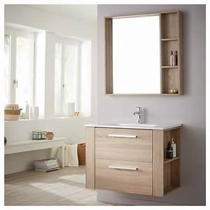 Meuble De Salle : achat de meuble de salle de bain avec plan vasque et miroir finition ch ne ~ Nature-et-papiers.com Idées de Décoration