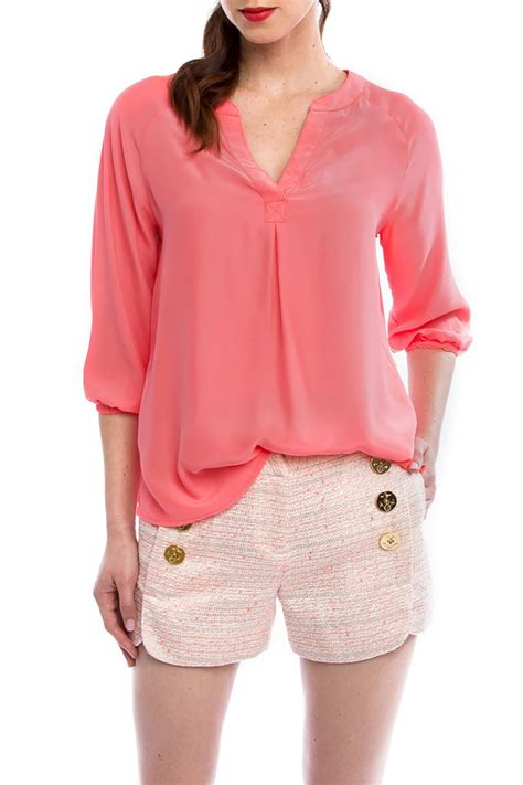 coral blouses and tops julie brown nyc coral silk blouse from charleston by