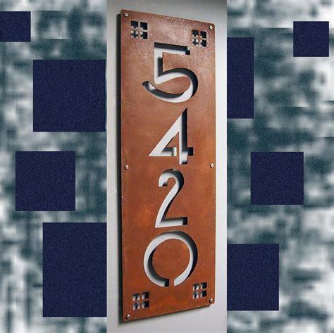 custom craftsman ultra wide vertical house numbers