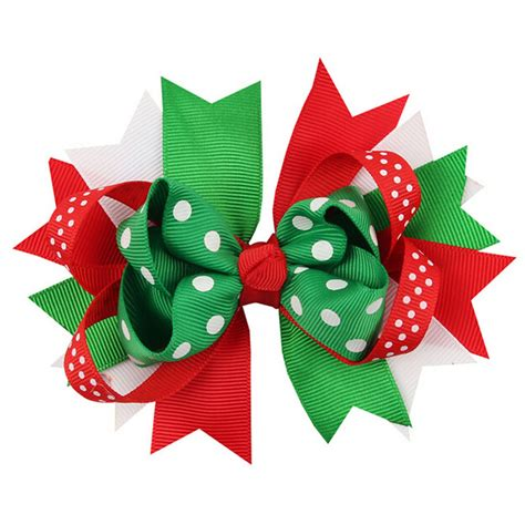 christmas ornaments bowknot hairpin headdress hairpin
