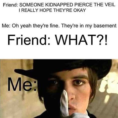 Pierce The Veil Memes - i love how it uses pierce the veil and panic at the disco in one pin pierce the veil