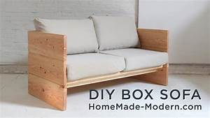 DIY Sofa made out of 2x10s - YouTube