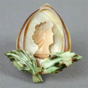 Old c1930s Mother of Pearl Carved Shell Cameo Pin from ...