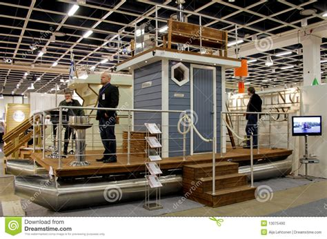 Floating Boat Show Helsinki by Sauna Boat At Boat Show Editorial Image Image 13075490