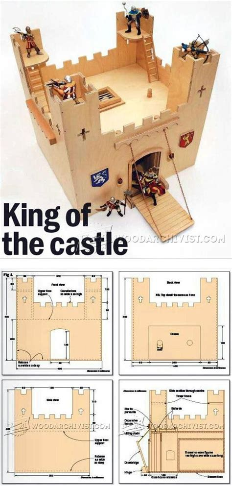 Wooden dollhouses, fairy houses and wooden treehouse toys from bella luna toys. Wooden Castle Plans - Wooden Toy Plans and Projects | Woodworking Tips, Tricks, and Plans ...