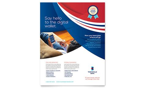 bank flyer template word publisher