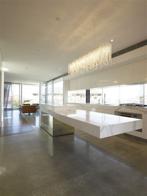 cantilevered tables floating  modern luxury homes