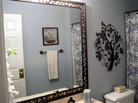 frame a mirror with glass tile diy