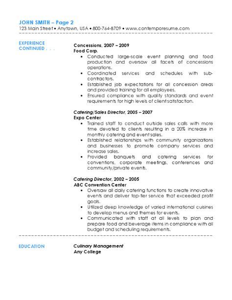 Catering Resume by Catering Resume