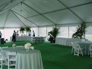 Omaha party tent with green carpet